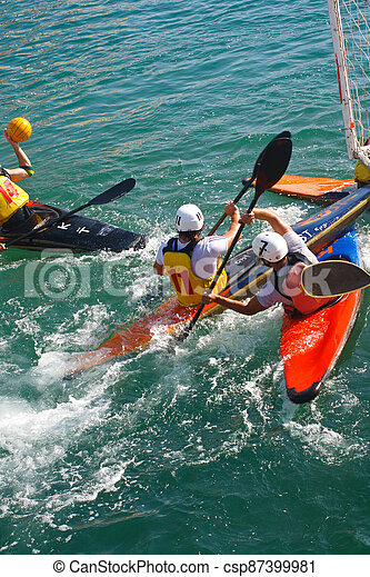 Canoe polo competition - csp87399981