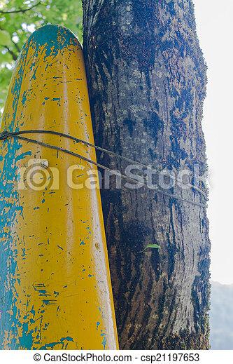 canoeing on the tree - csp21197653