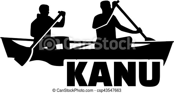 Canoeing Two Man In A Boat