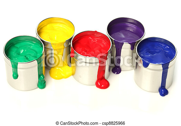 Cans of paint - csp8825966