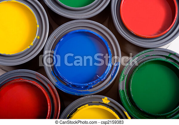 Cans of Paint - csp2159383