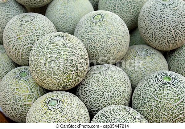 Cantaloupe melon - csp35447214