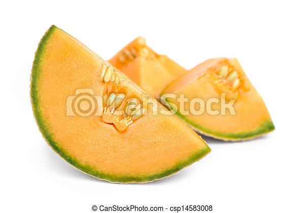 Cantaloupe Melon pieces - csp14583008
