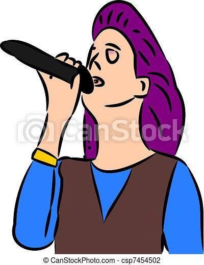 cantante, femmina - csp7454502