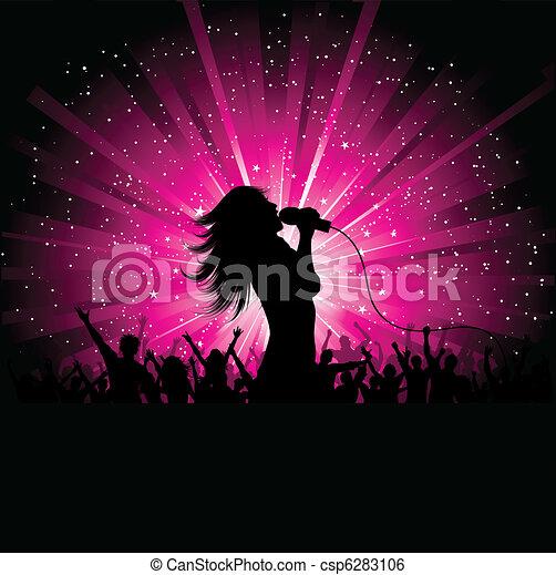 cantante, femmina - csp6283106