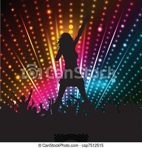 cantante, femmina - csp7512515