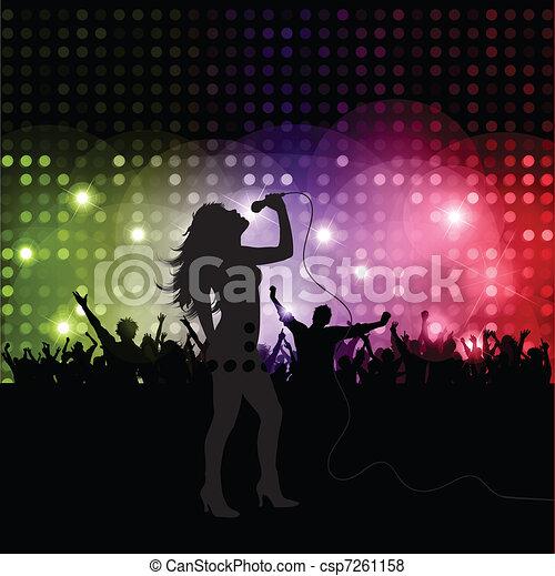 cantante, femmina - csp7261158