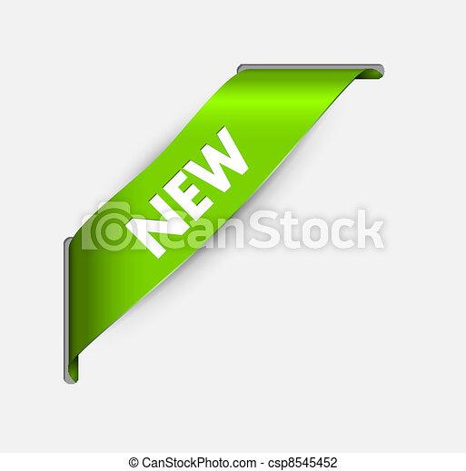 canto, item, verde, fita, novo - csp8545452