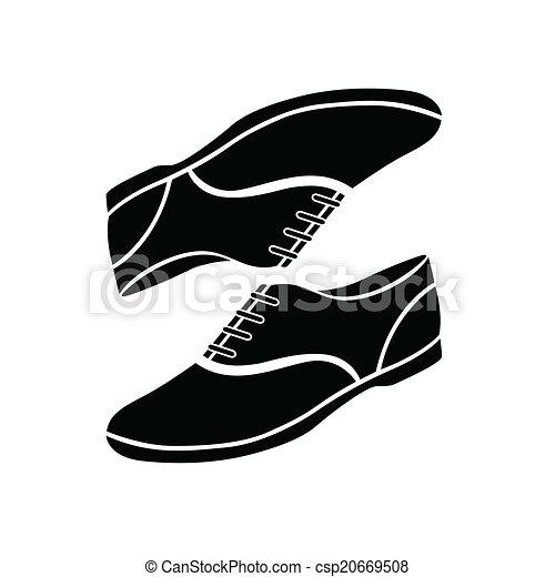 Canvas shoes vector illustration.