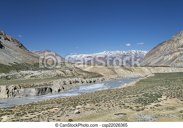 Canyon in mountain valley - csp22026365