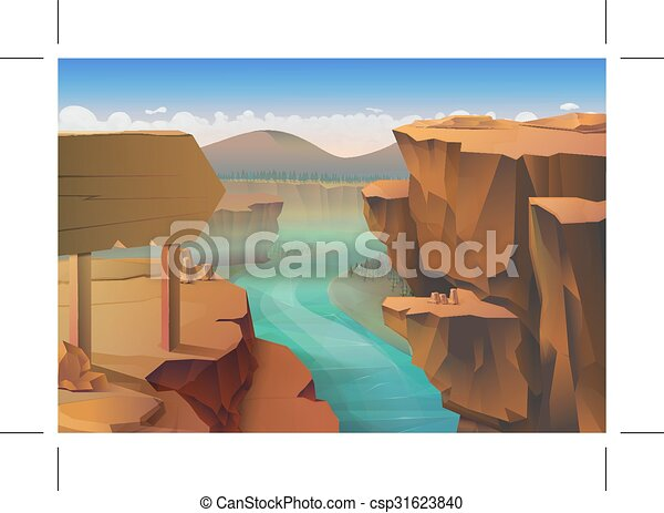 Canyon nature background - csp31623840