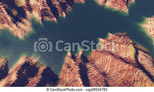Canyon river aerial view - csp28504783