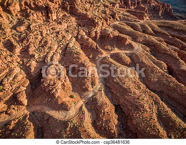 canyon road aerial view - csp36481636