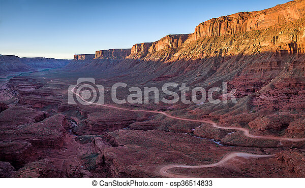 canyon road aerial view - csp36514833