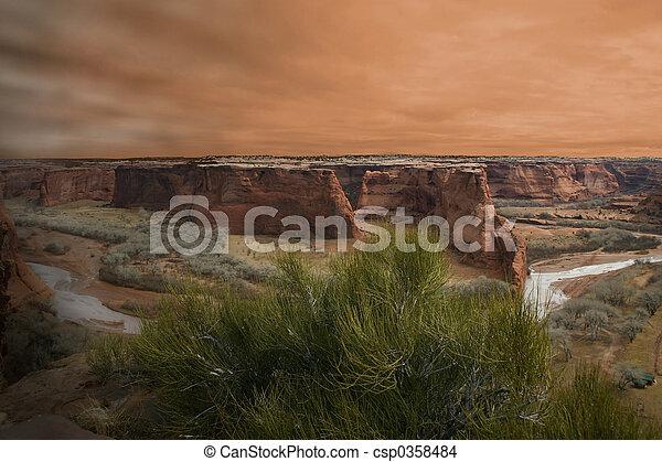 Canyon Sunset - csp0358484