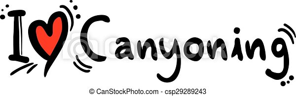 Creative Design Of Canyoning Love Eps Vector