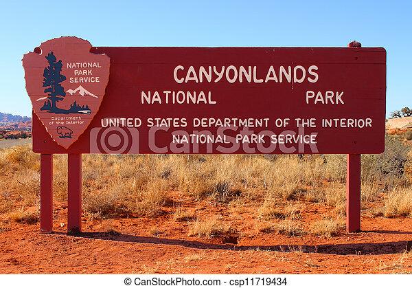 Canyonlands National Park Sign - csp11719434