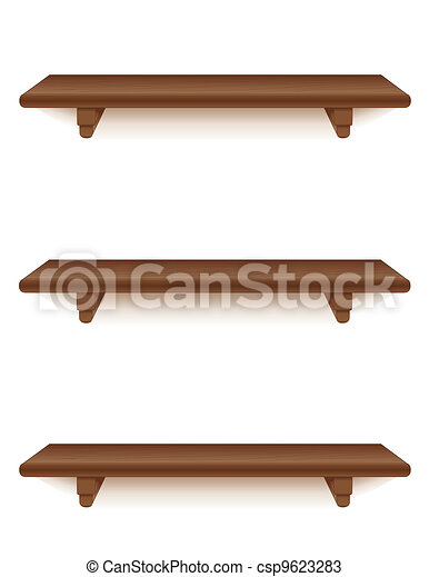 Caoba madera estantes Madera grupos corchetes pared favorito
