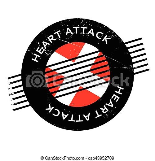 caoutchouc, crise cardiaque, timbre - csp43952709