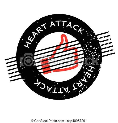 caoutchouc, crise cardiaque, timbre - csp48987291
