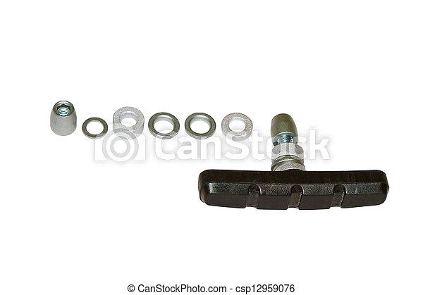 caoutchouc, frein, image, vélo, coussins - csp12959076