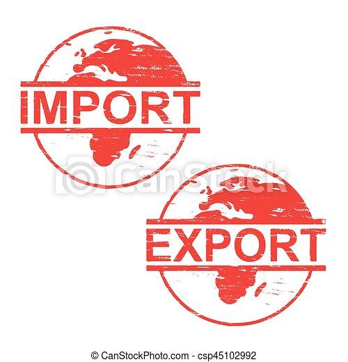 caoutchouc, importation, timbres, exportation - csp45102992