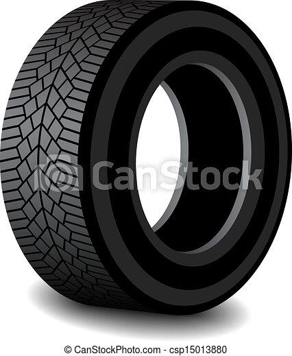 caoutchouc, ombre, vecteur, pneu - csp15013880