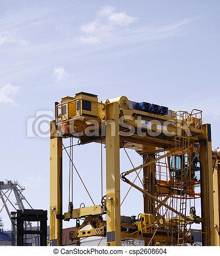 caoutchouc, portique, récipient, maniement, pneu - csp2608604