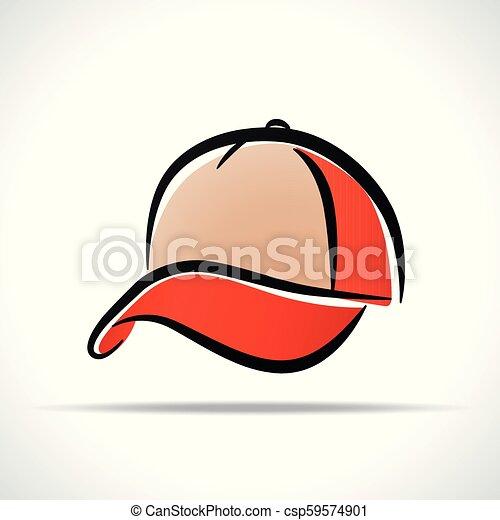 cap design on white background - csp59574901