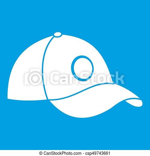 Cap icon white - csp49743661