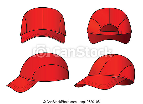 Cap template. Cap vector illustration featured front, back, side ...