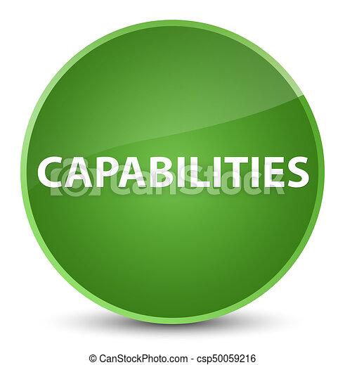 Capabilities elegant soft green round button - csp50059216