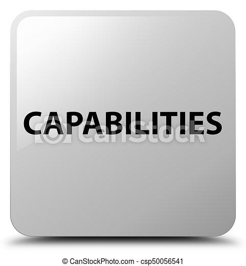 Capabilities white square button - csp50056541