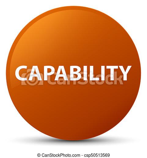 Capability brown round button - csp50513569