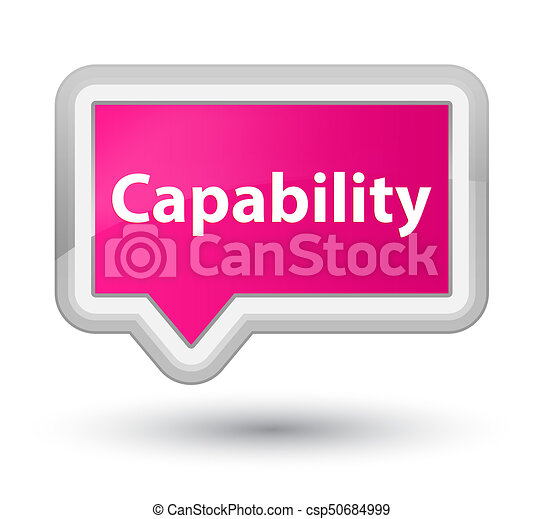 Capability prime pink banner button - csp50684999