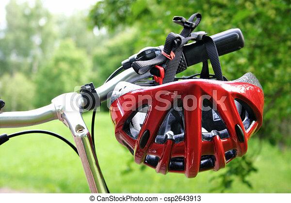 capacete, bicicleta - csp2643913