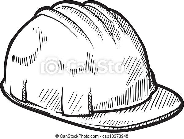capacete, hardhat, vetorial, segurança - csp10373948