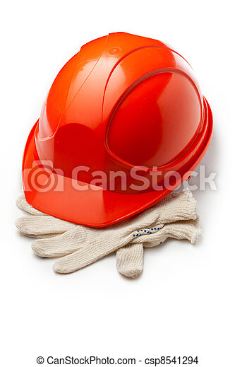 capacete, luvas segurança, vermelho - csp8541294