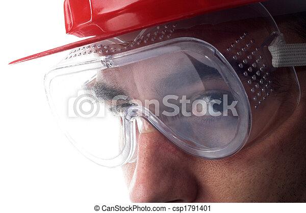 capacete, trabalhador - csp1791401