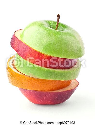 capas, manzanas, naranjas - csp6970493