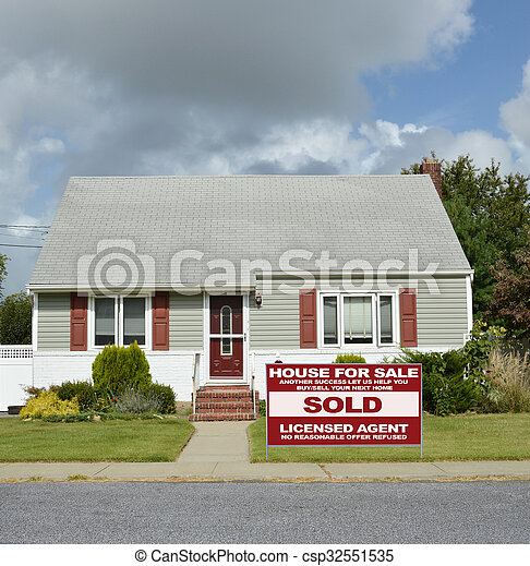 Cape Cod Home Sold - csp32551535