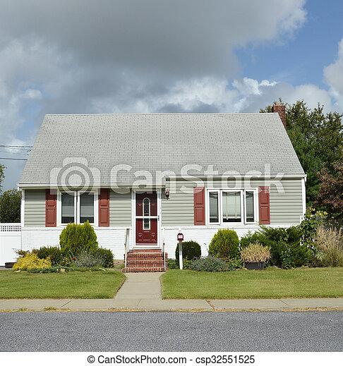 Cape Cod Style Suburban Home - csp32551525