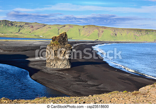 Cape Dirholaey in southern Iceland - csp23518600