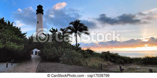 Cape Florida Sunrise - csp17038799