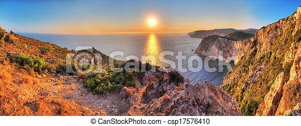 Cape Keri sunset panorama - csp17576410