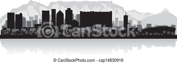 Cape Town city skyline vector silhouette - csp14830916