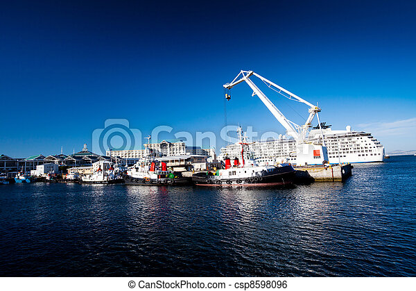 cape town harbour, south africa - csp8598096