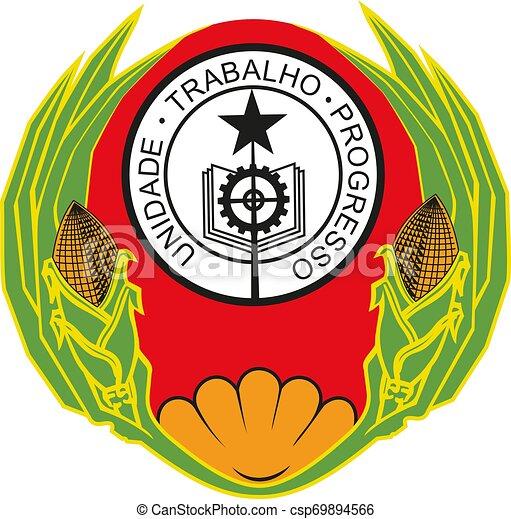 Cape Verde coat of arms national emblem vector - csp69894566