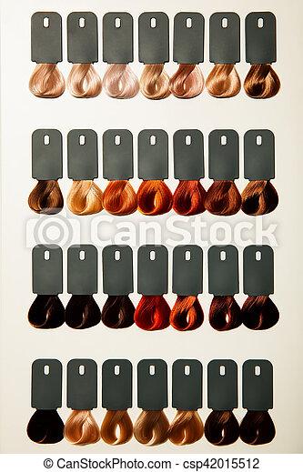 Capelli Colori Tavolozza Dye Differente