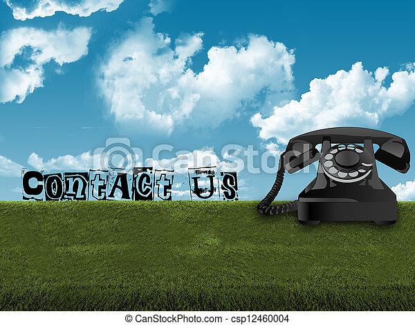 capim, telefone velho - csp12460004
